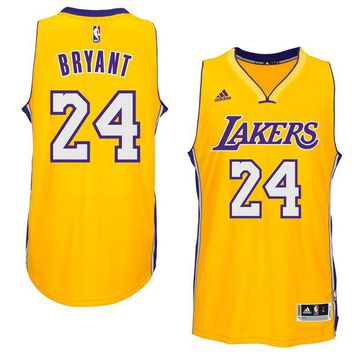 Men's Los Angeles Lakers Kobe Bryant adidas Gold Player Swingman Home Jersey