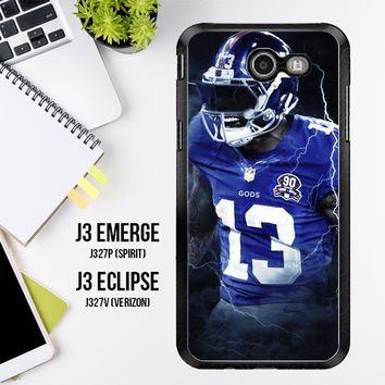 Odell Beckham Jr New York Giants X5642 Samsung Galaxy J3 Emerge, J3 Eclipse , Amp Prime 2, Express Prime 2 2017 SM J327 Case