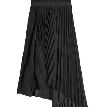 Asymmetric Pleated Skirt - Balenciaga | WOMEN | KR STYLEBOP.COM