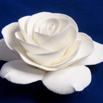 White Gardenia Hair Flower, Ivory, Wedding accessories, Bridal flower, Gardenia Hair Clip, Gardenia bobby pin