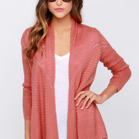 O'Neill Needles Brick Red Wrap Sweater