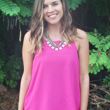 Perfectly Polished Top in Berry - One Left!