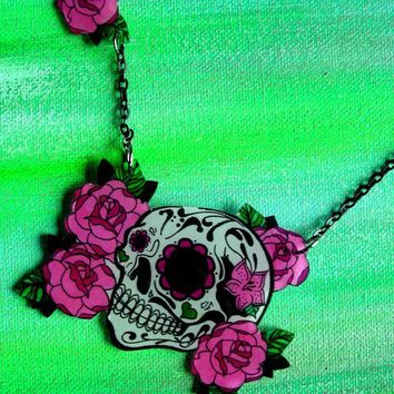 LAST ONE  Dia De Los Muertos Sugar Skull and by theringleader