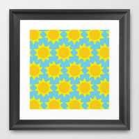 Sunny Framed Art Print by Tchea-ster