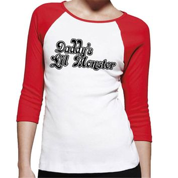 Daddy Monster Ladies  shirt Harley Quinn Costume