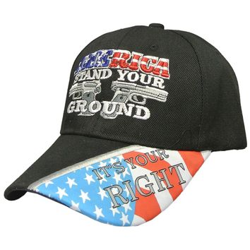 America Stand Your Ground Mens Patriotic Hat