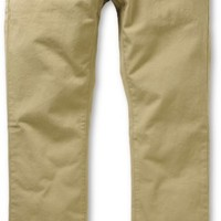 Free World Drifter Khaki Slim Straight Fit Chino Pants