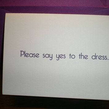 Will you be my Bridesmaid/Maid Of Honor Say by LittleLadyCompany