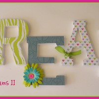 Wall Letters  TEEN DREAMS II Theme  available in by dwellingonline