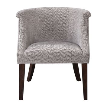 Arthure Barrel Back Pewter Accent Chair by Uttermost