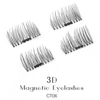 Shozy 4 Pcs/Pair Convenient Magnetic Eyelashes Extention Eye Makeup Accessories Soft Hair False Eyelashes Fake Lashes-CT06