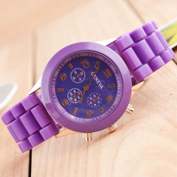 Great Deal Good Price Awesome Designer's Gift Trendy New Arrival Stylish Casual Silicone Unisex Watch [4933059716]