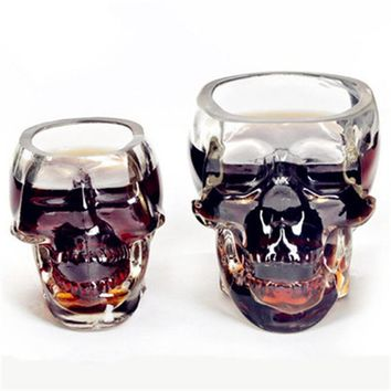 Creative doomed skull head shot heat resistant glass cup,for coffee/milk/tea/beer/wine,cup/mug,bar&home use drinkware,