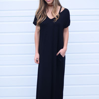 Without You Maxi Dress- Black