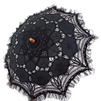 Lace and Cotton Parasol