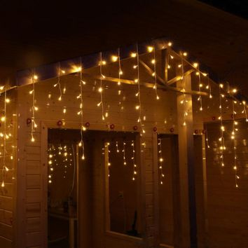 10m 320 Bulbs LED Curtain lights garland christmas Gerlyanda outdoor holiday light decoration wedding room decorative lights