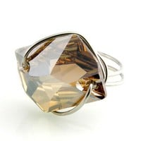 Swarovski Cosmic Ring Button Golden Shadow 26mm