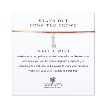 stand out from the crowd giraffe orange silk necklace, sterling silver - Dogeared