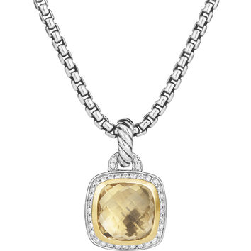 Albion Pendant with Champagne Citrine and Diamonds with 18k Gold - David Yurman