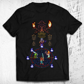Chrono Trigger Magus Battle Men's Video Game T-shirt