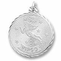 Virgo Charm In Sterling Silver
