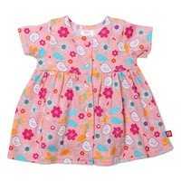 Infant Girl's Zutano Short Sleeve Button Front Dress,
