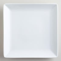 White Coupe Square Dinner Plates, Set of 4 - World Market