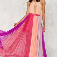 Nasty Gal The Rainbow's End Maxi Skirt