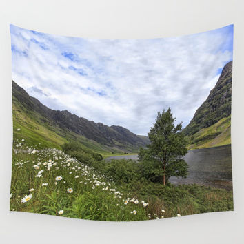 Glen Coe, Scottish Highlands Wall Tapestry by anipani