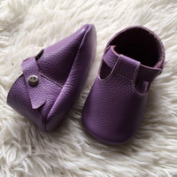 Purple Reign- Baby T-Strap Booties