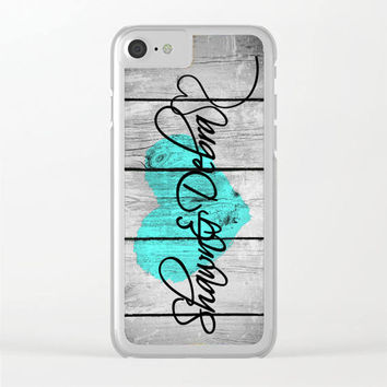 Mint Couples Phone Case, Unique Personalized Phone Case, iPhone 6 Case Clear, iPhone 6s Case Clear, iPhone 7, 7 plus, 6s plus Case Clear