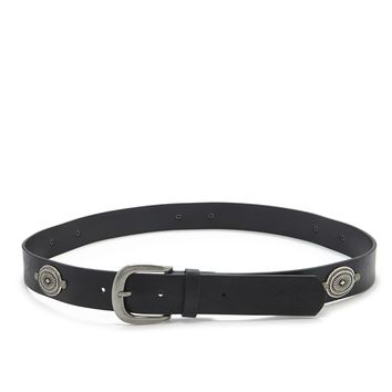 Medallion Faux Leather Belt