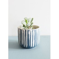 "SALE - Small Blue Flower Pot - 3.5"" Tall"