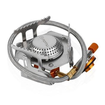 ONETOW Silver Color Ultra Light Alloy Maximum Fuel Saving Portable Split Type Gas Stove Picnic Furnace Outdoor Camping Cooking Stove