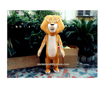 Alex Lion Cartoon Mascot Costume, Cosplay Costumes, Animal Costume, Costume for Adults,Clothing, Performing Costume, Party Costumes