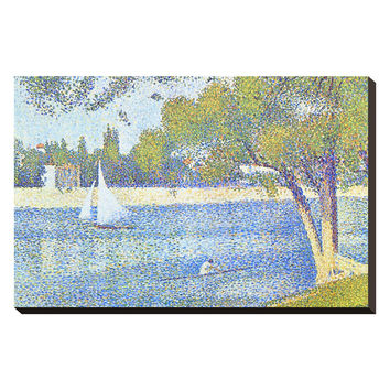 Art.com The Seine by the Island of Jatte in Spring by Georges Seurat (Canvas)