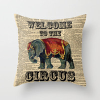 Welcome To The Circus by Adidit Throw Pillow by Adidit | Society6