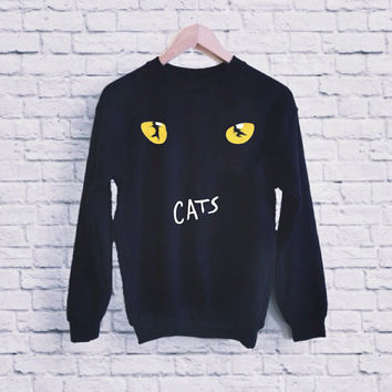 New CATS Broadway Musical Show Logo UNISEX SWEATSHIRT heppy fit & sizing