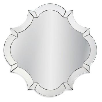 Modern quatrofoil Mirror Framed Wall Mirror