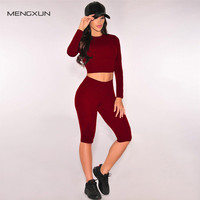 Autumn Sexy Women Jumpsuit Romper Slim OL Playsuit Long Sleeve Bandage Bodaycon Long Night Club Two Pieces Outfits Bodysuit