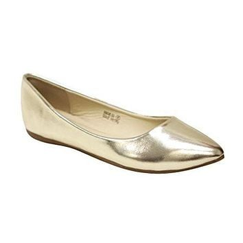 Women's Angie Classic Pointy Toe Ballet Slip On Flat Shoes