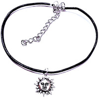 Sun Face Customizable Necklace/Ring/Earrings