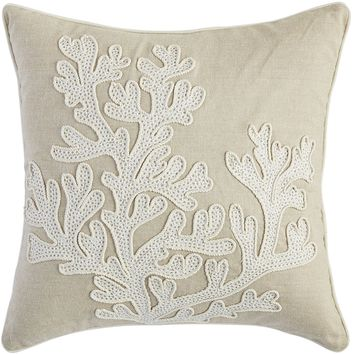 Coastal Natural Coral Pillow