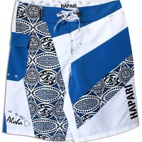 Blue Hawaiian Tribal Mens Boardshorts