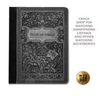 Vintage Gothic Book of Spells witches grimoire victorian romantic protective tablet case (ipad 2 3 4, air, mini, Kindle Fire, paperwhite)