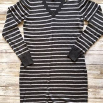 Old Navy Stripe Sweater Dress size small