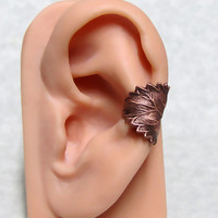 Filigree Forest Leaf Ear Cuff