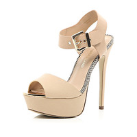 River Island Womens Nude platform sandals