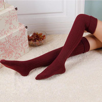 New Design Thigh High Over the Knee Socks Long Cotton Stockings