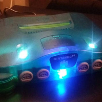 Nintendo 64 Funtastic series mix up Custom LED Lights, n64 console with leds, n64 system custom led lights